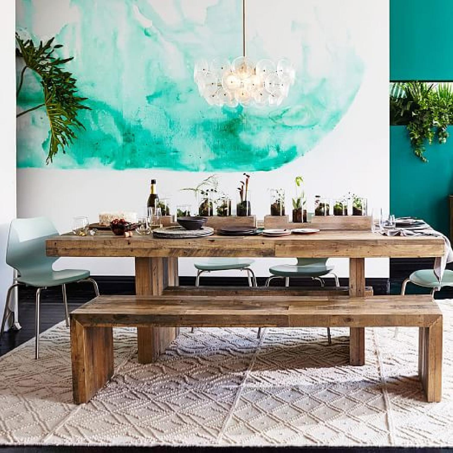 West Elm Reclaimed Pine Emmerson 72 Table and 58 Bench - image-0