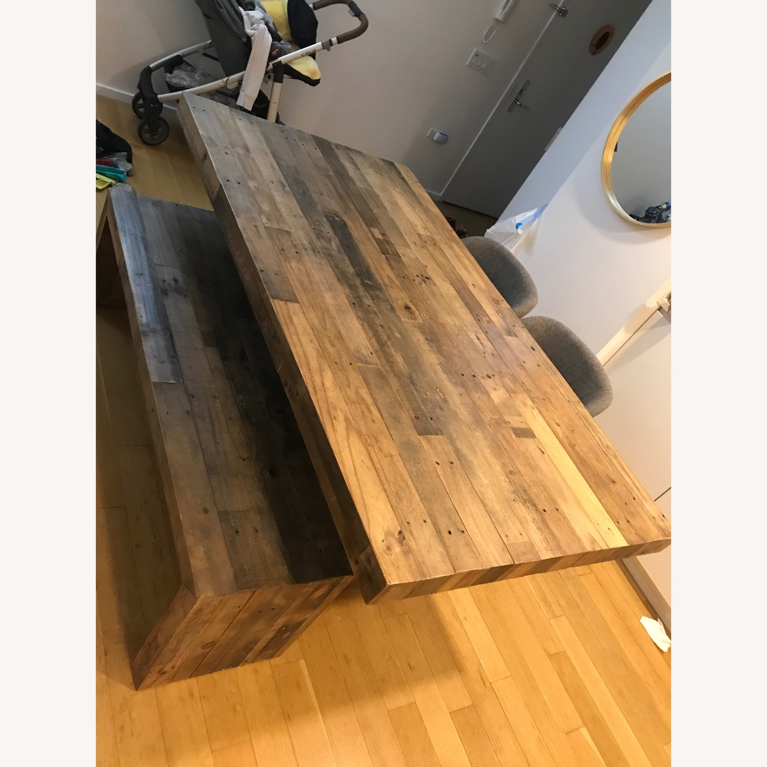 West Elm Reclaimed Pine Emmerson 72 Table and 58 Bench - image-3