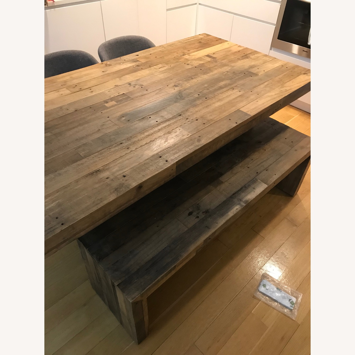 West Elm Reclaimed Pine Emmerson 72 Table and 58 Bench - image-1