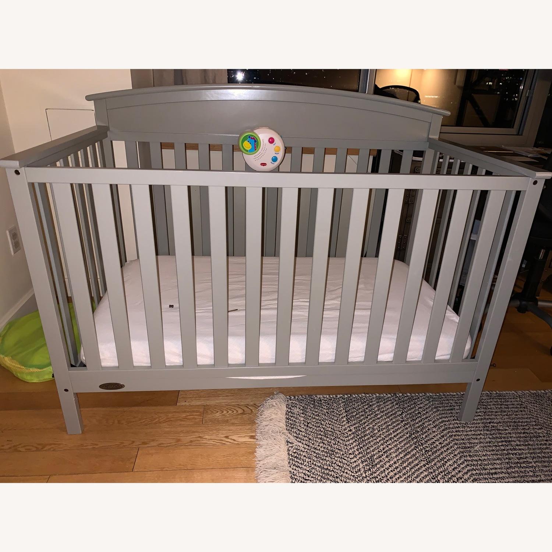 Graco Benton 4 In 1 Convertible Crib In Pebble Gray Aptdeco