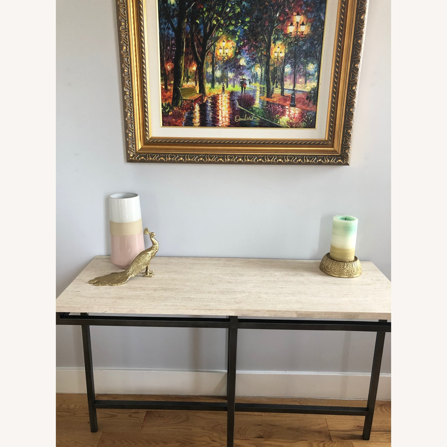 Travertine Console Table - image-4