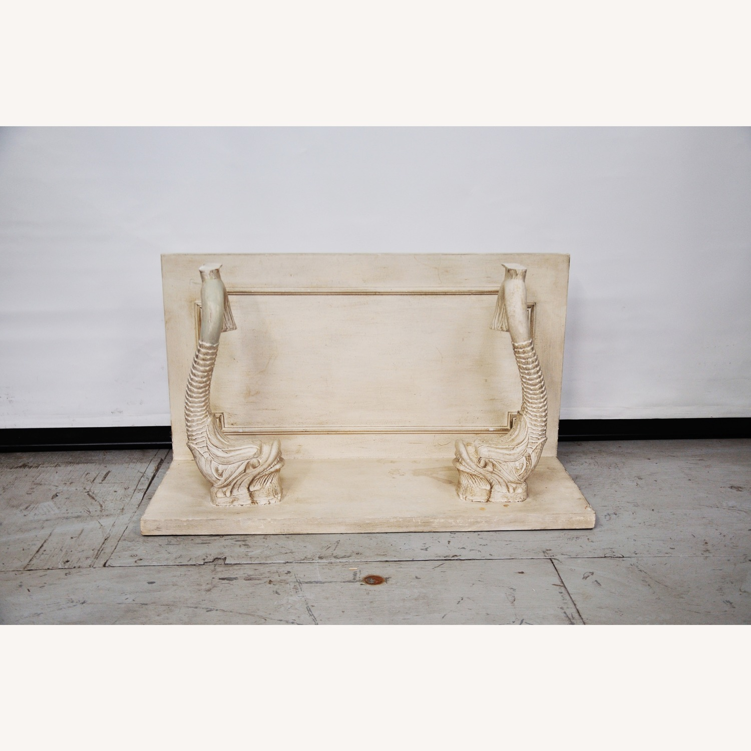 Indian Carved Side Table w/ Marble Top - image-8
