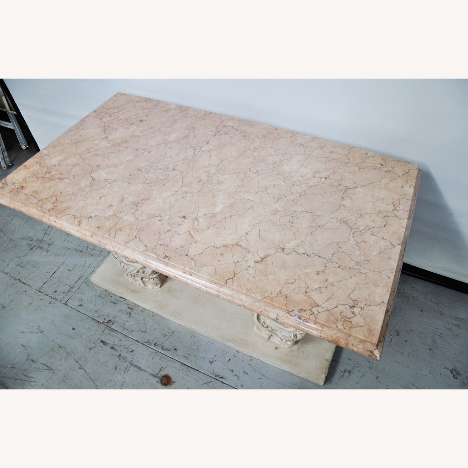 Indian Carved Side Table w/ Marble Top - image-12