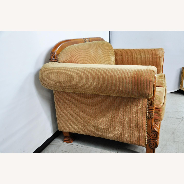 Italian Inspired Corduroy Loveseat Sofa - image-5