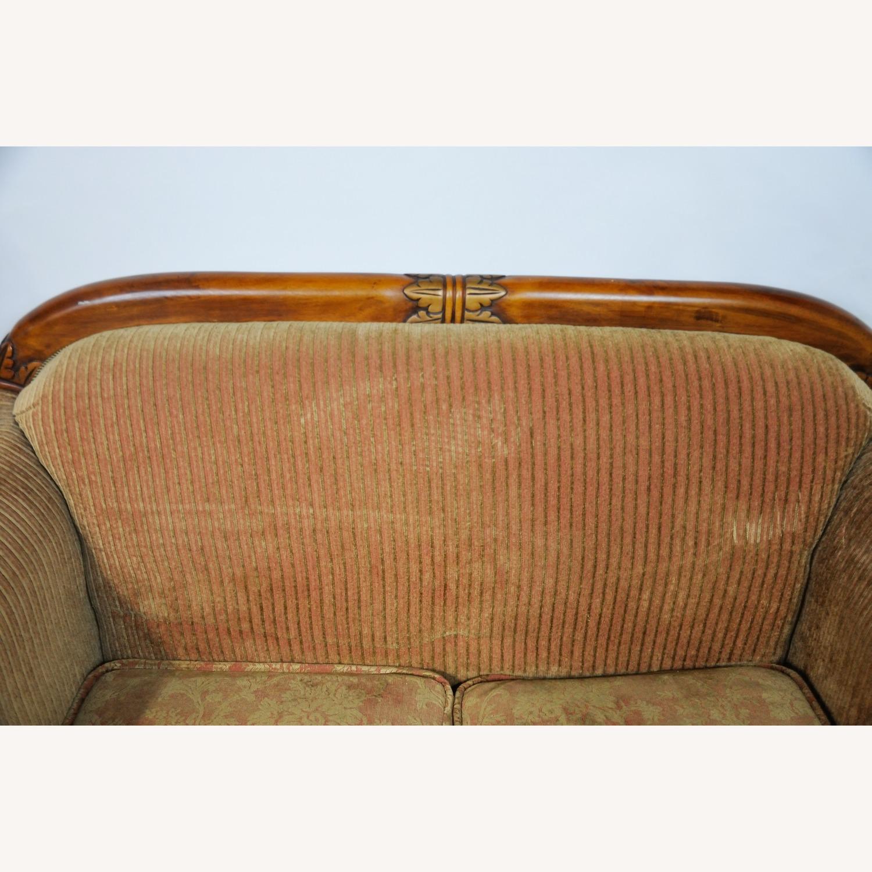 Italian Inspired Corduroy Loveseat Sofa - image-11