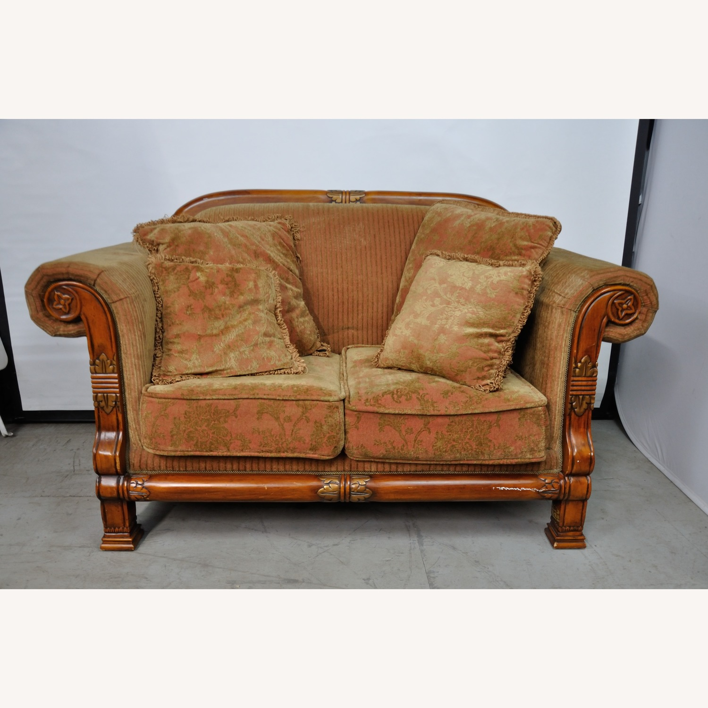 Italian Inspired Corduroy Loveseat Sofa - image-3