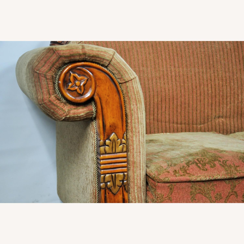 Italian Inspired Corduroy Loveseat Sofa - image-10
