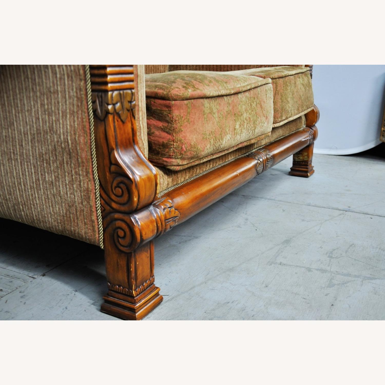 Italian Inspired Corduroy Loveseat Sofa - image-8