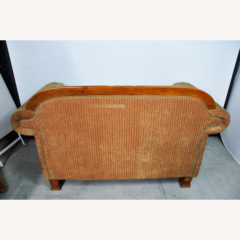 Italian Inspired Corduroy Loveseat Sofa - image-6