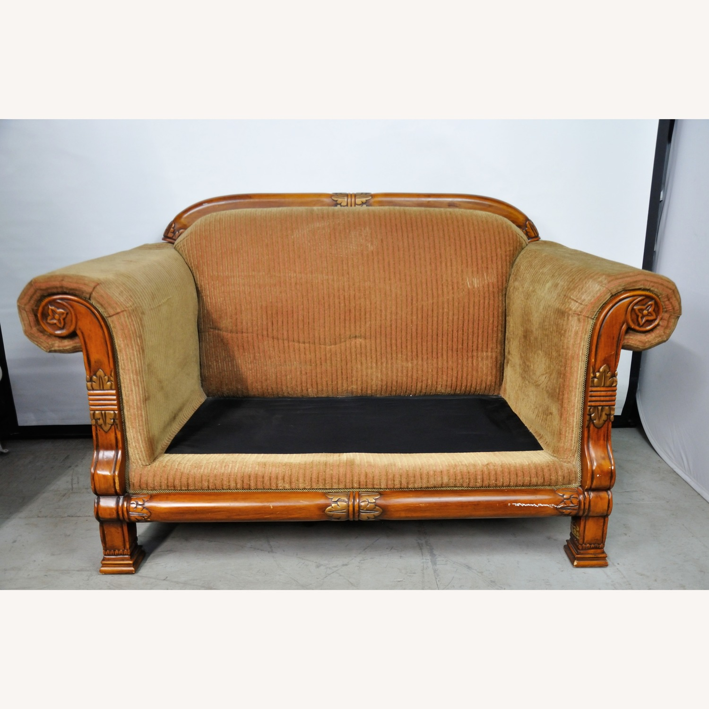 Italian Inspired Corduroy Loveseat Sofa - image-2
