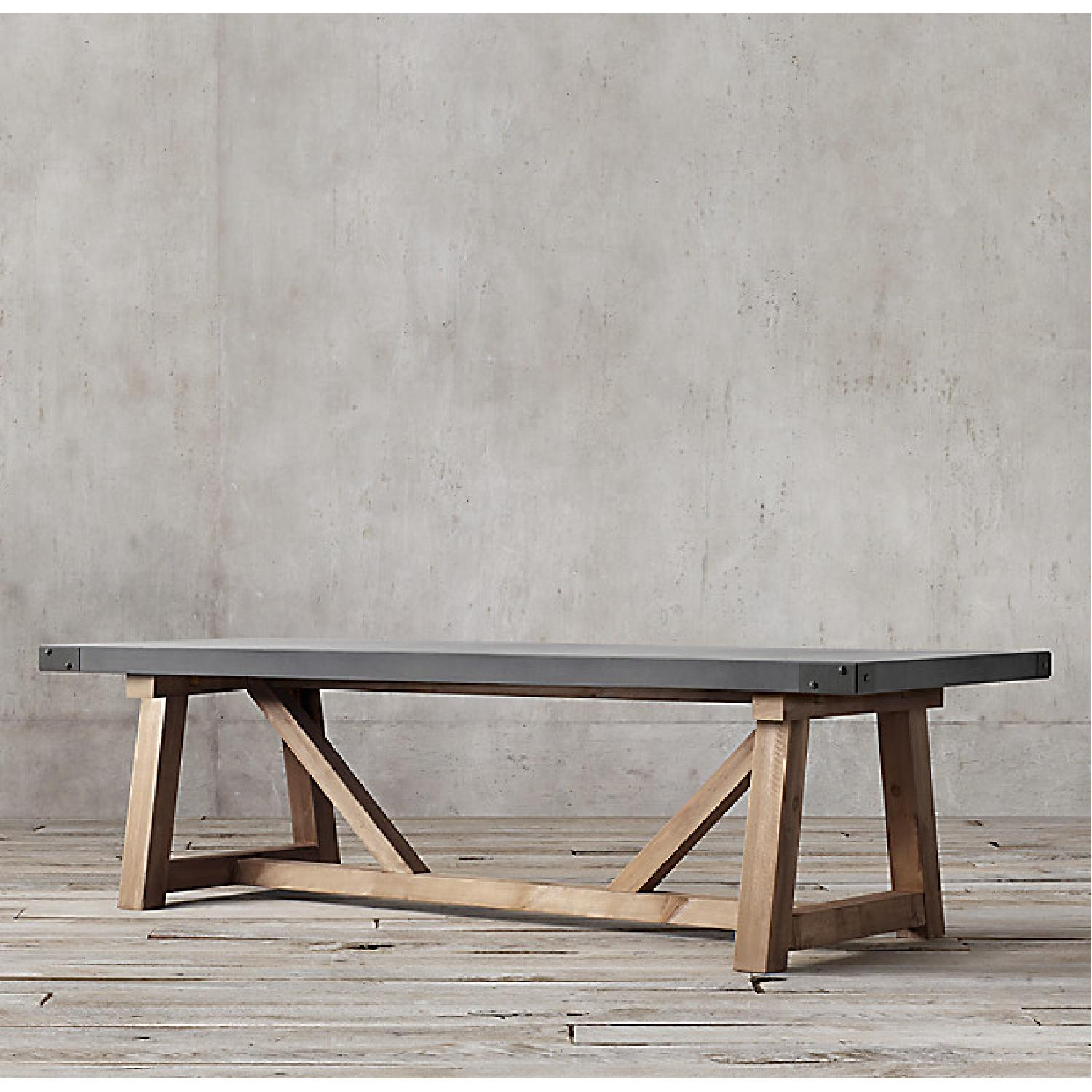 Restoration Hardware Salvaged Wood and Concrete Table - image-9