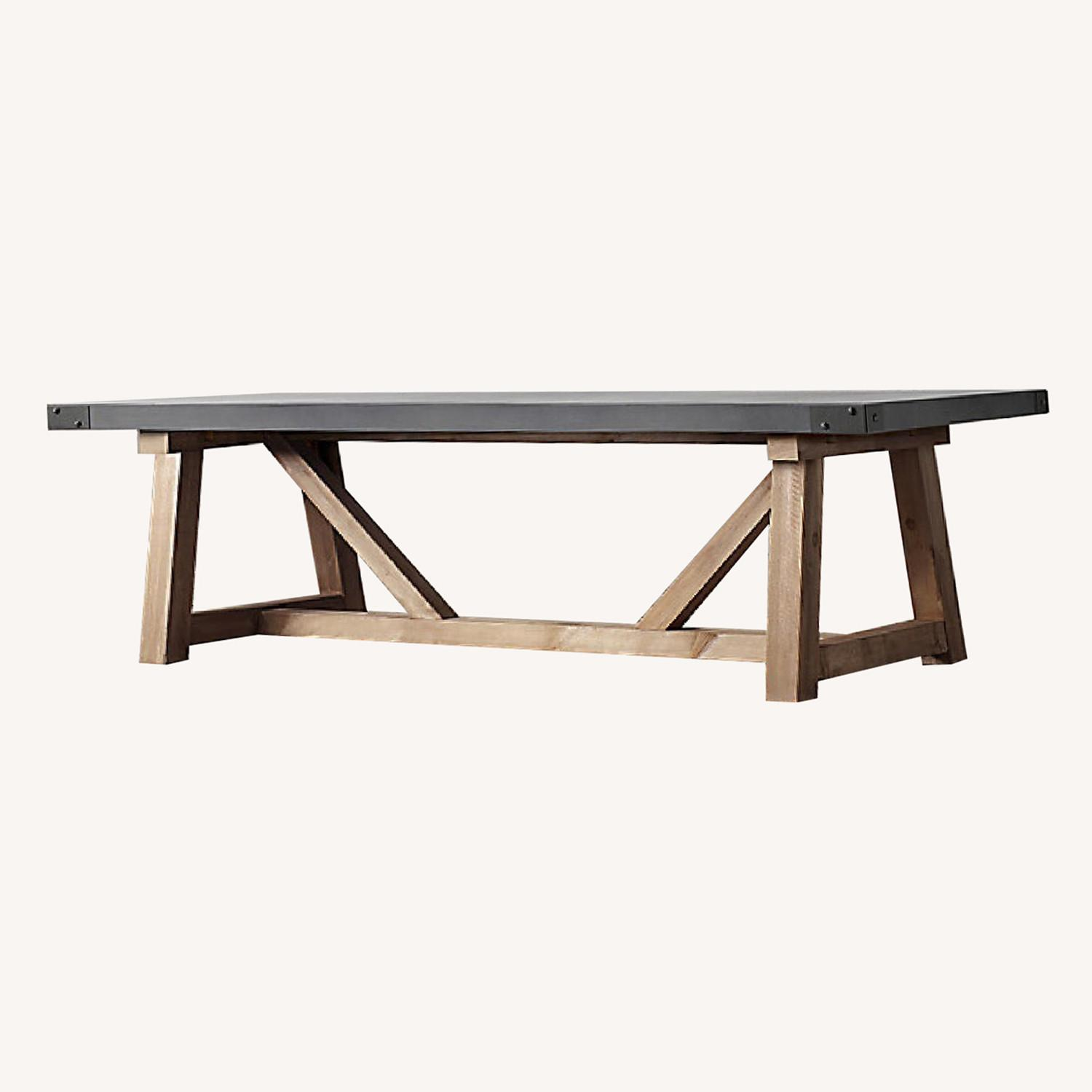 Restoration Hardware Salvaged Wood and Concrete Table - image-0