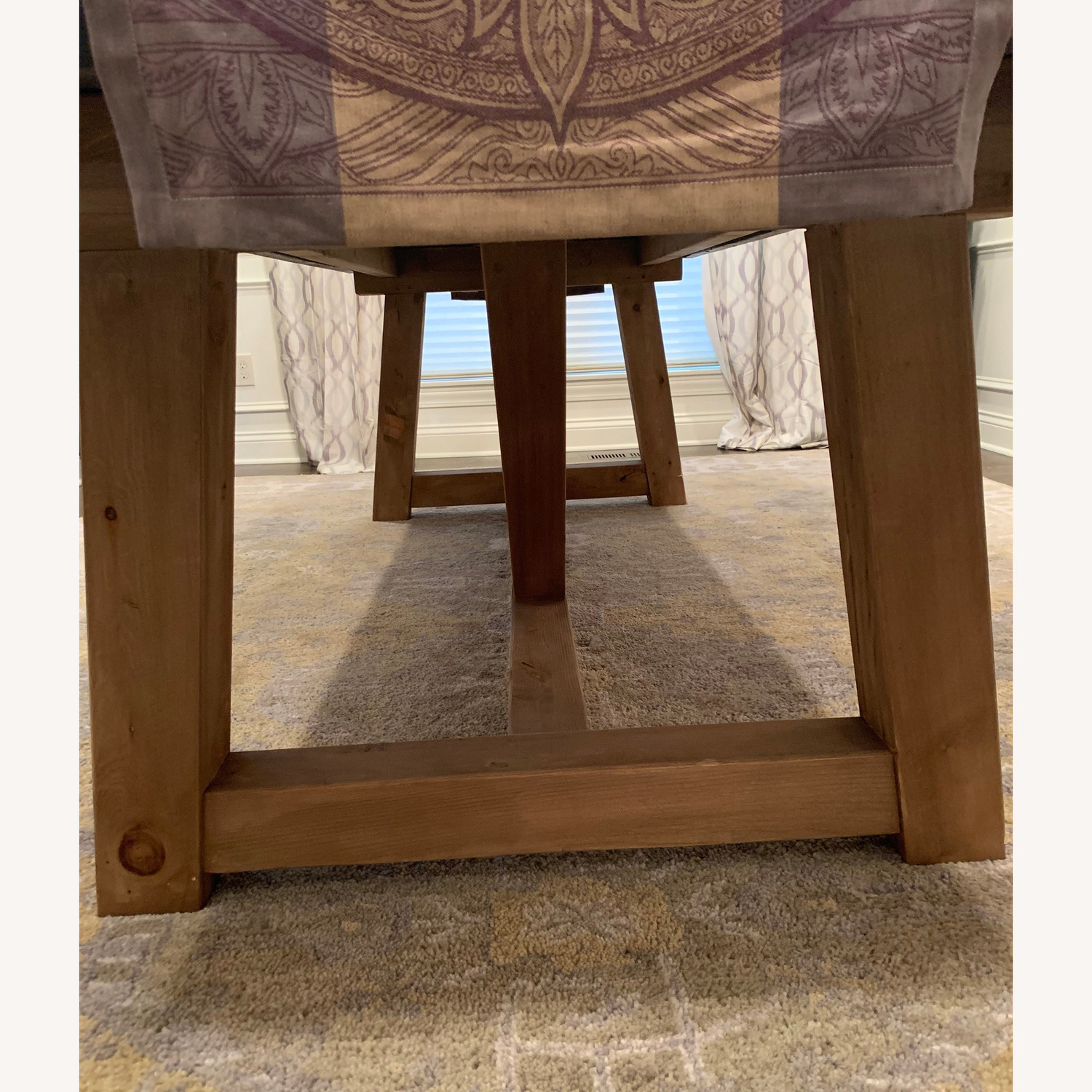 Restoration Hardware Salvaged Wood and Concrete Table - image-1