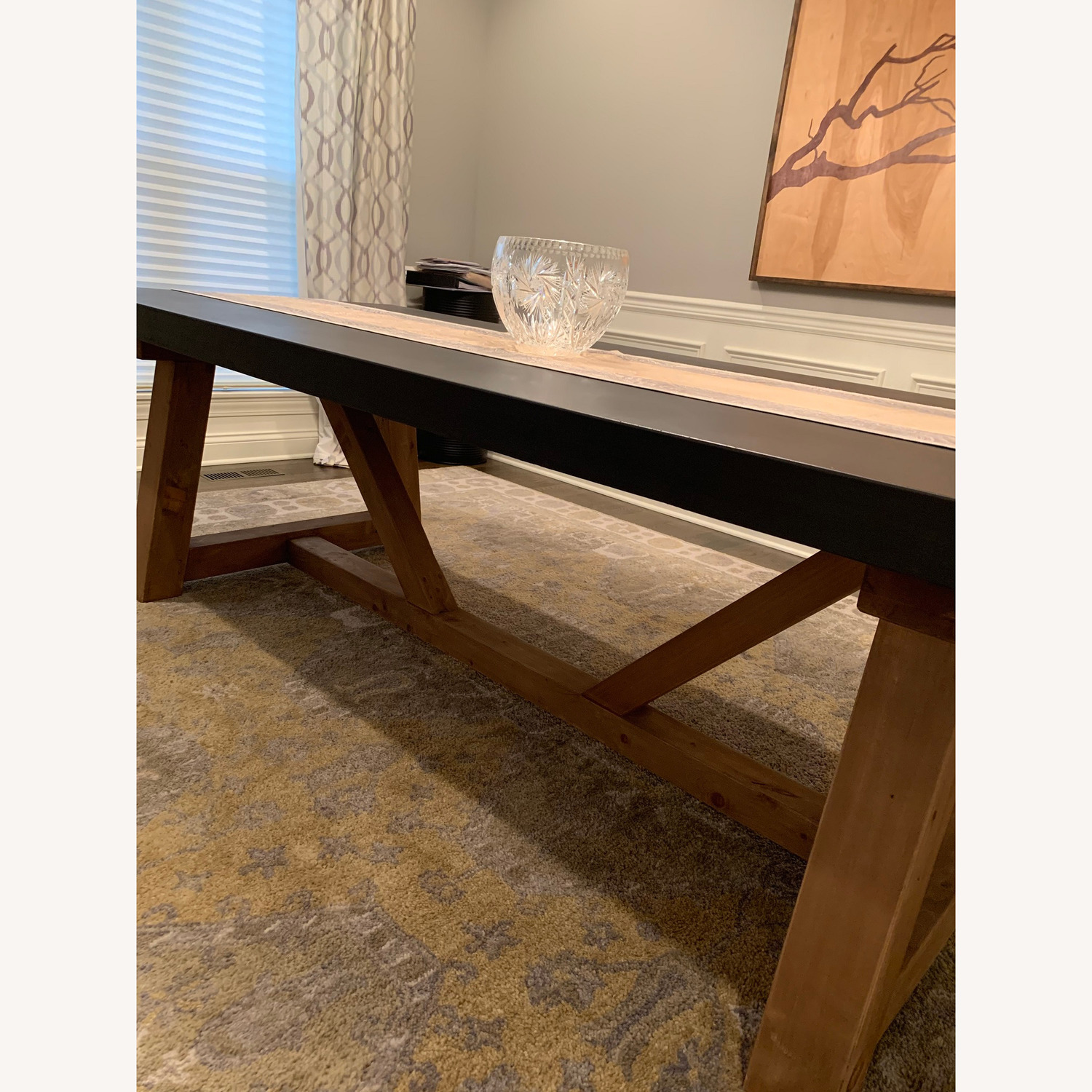 Restoration Hardware Salvaged Wood and Concrete Table - image-3