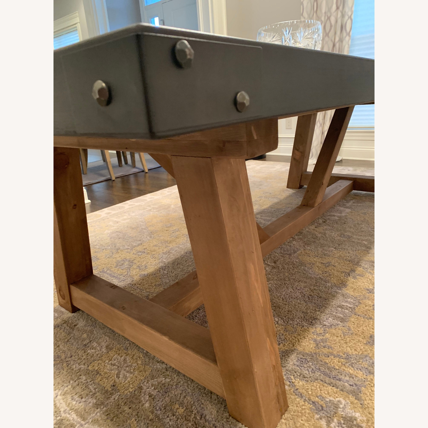 Restoration Hardware Salvaged Wood and Concrete Table - image-4