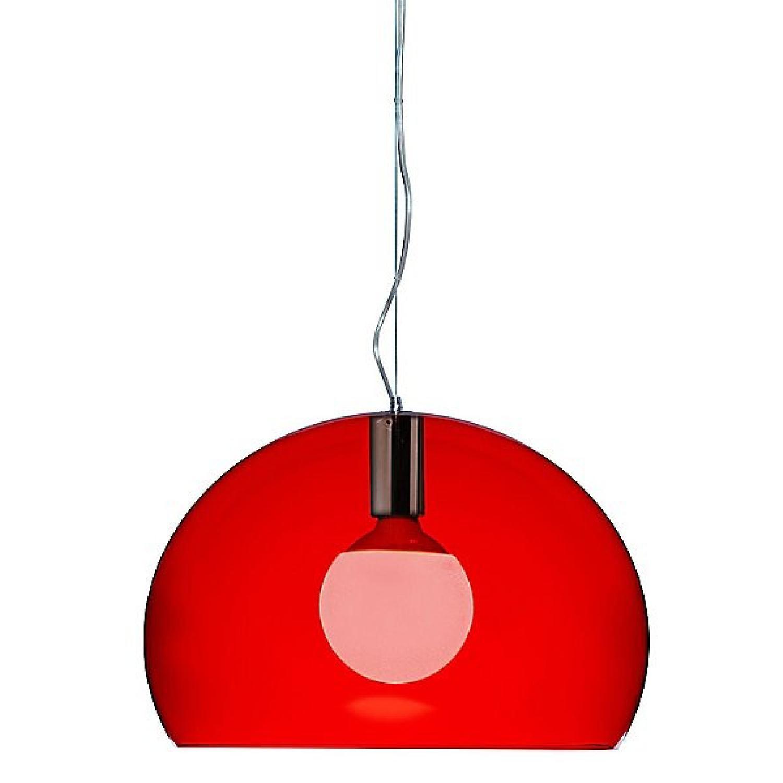 Kartell Fl/y Medium Red Pendants - image-0