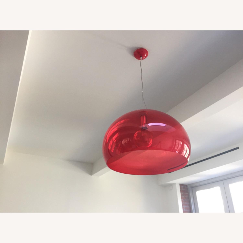 Kartell Fl/y Medium Red Pendants - image-3