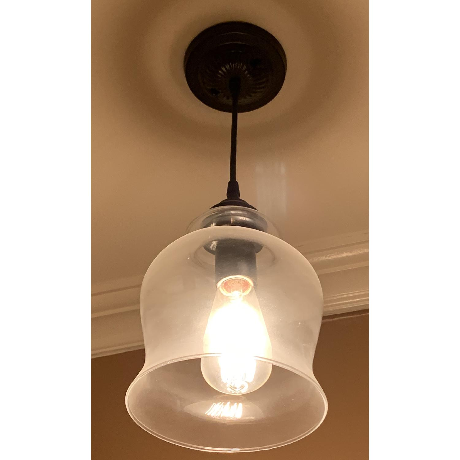 Metal and Hourglass Ceiling Light - image-0