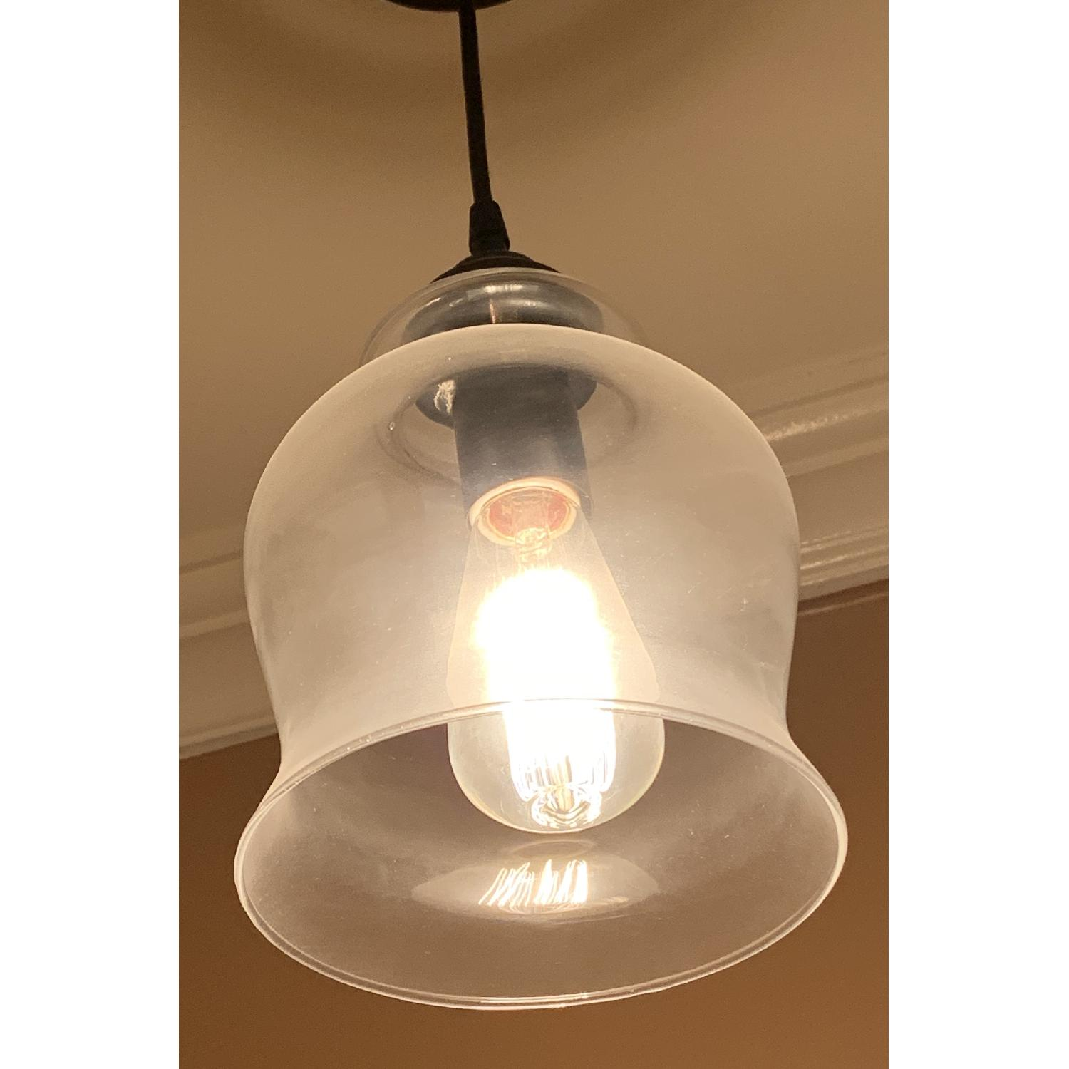 Metal and Hourglass Ceiling Light - image-2