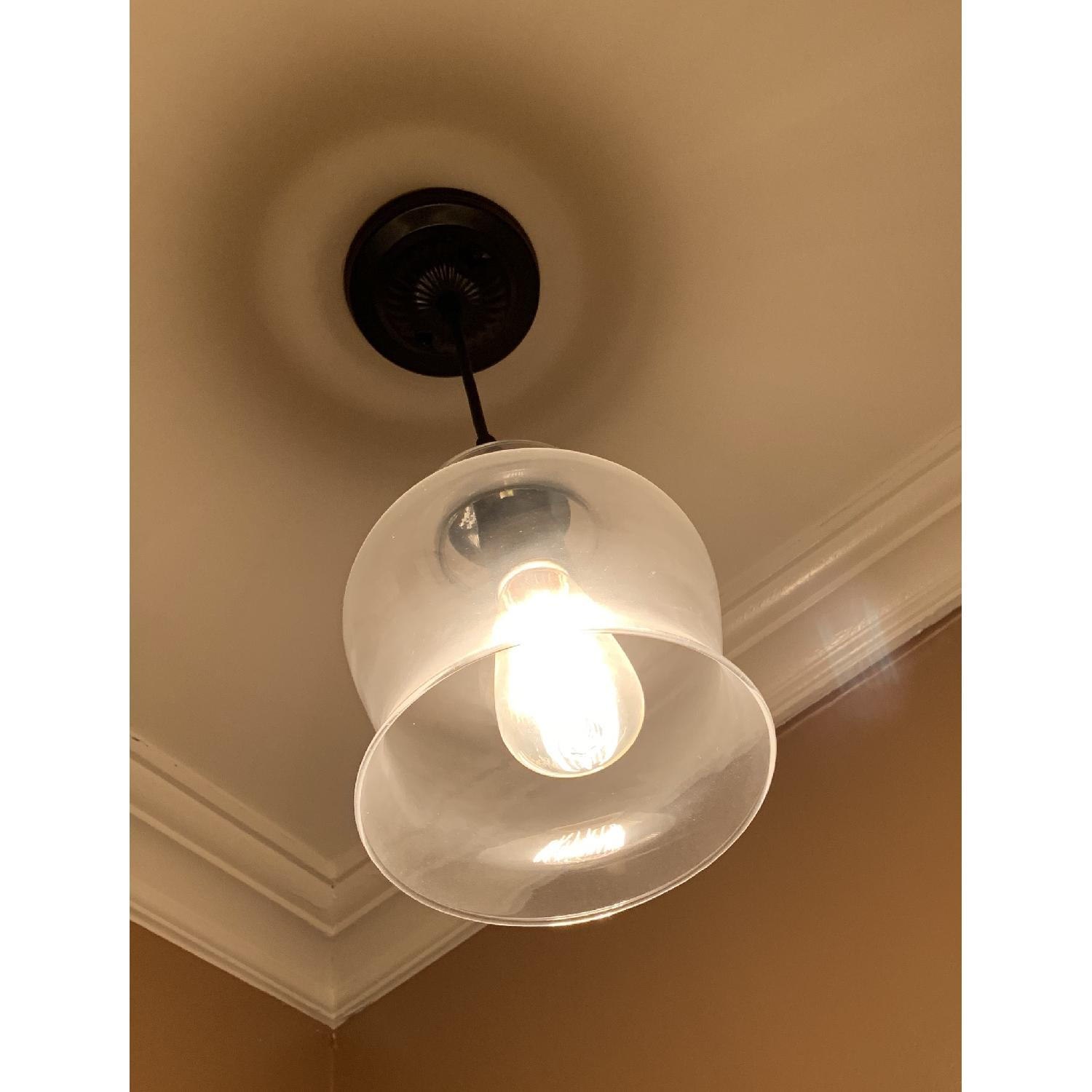 Metal and Hourglass Ceiling Light