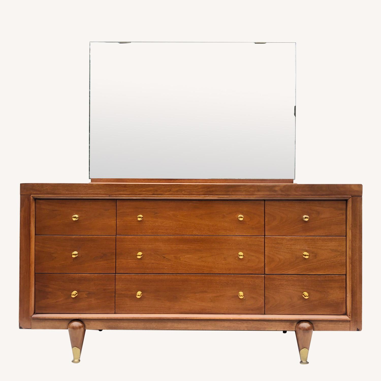 Kent Coffey Mid-Century Modern Dresser w/ Mirror - image-0