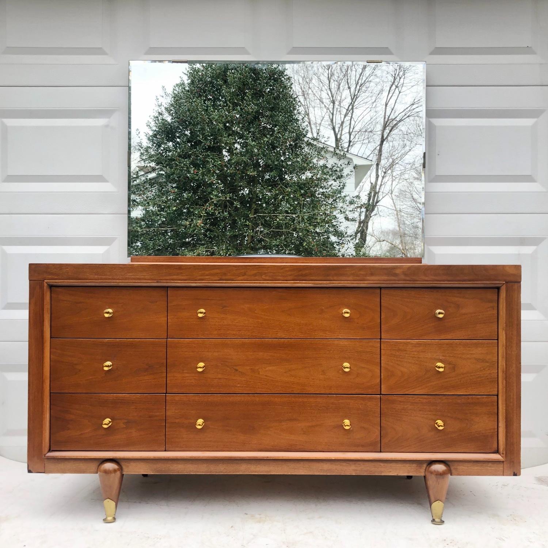 Kent Coffey Mid-Century Modern Dresser w/ Mirror - image-1