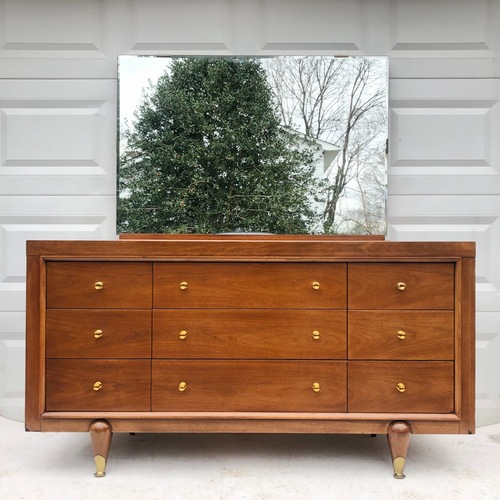 Used Kent Coffey Mid-Century Modern Dresser w/ Mirror for sale on AptDeco