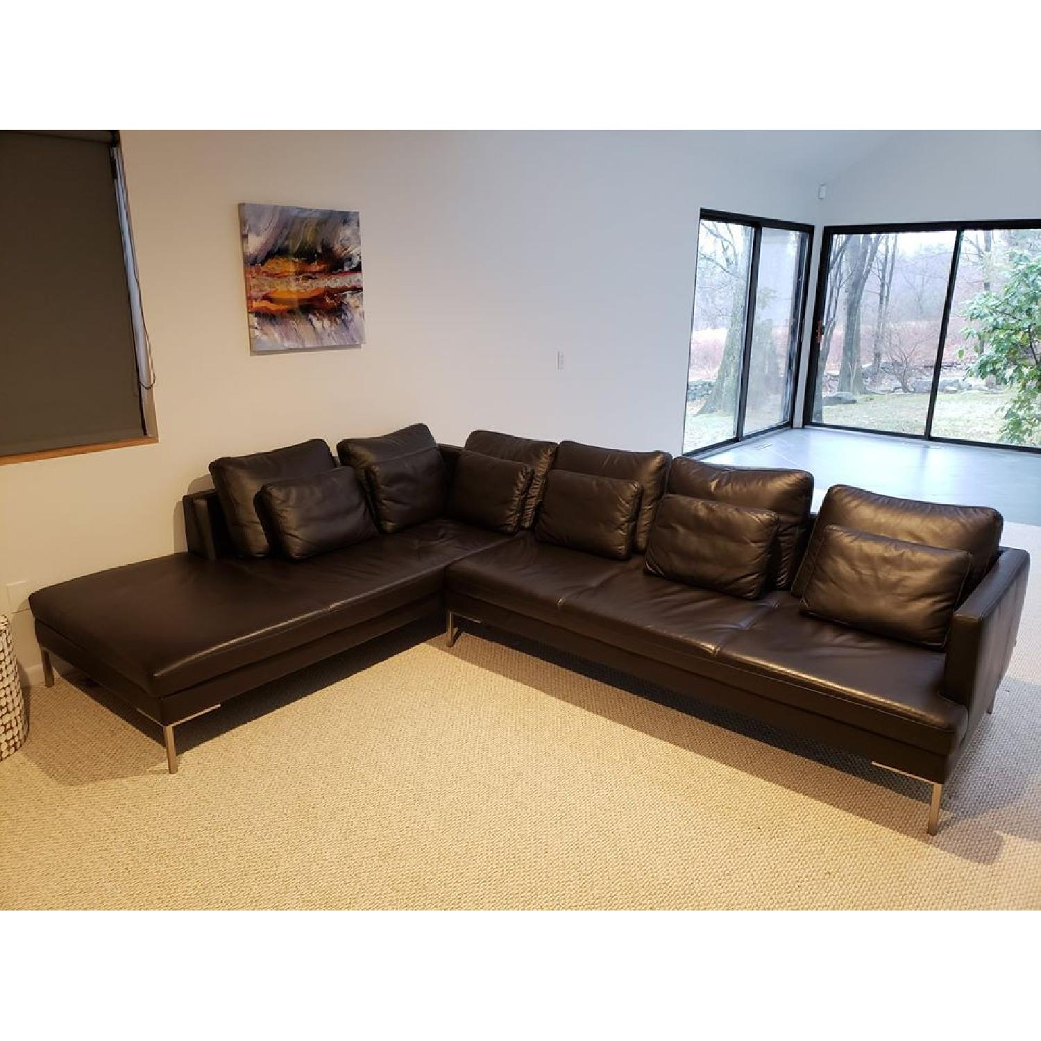 BoConcept Leather Sectional Couch - image-0
