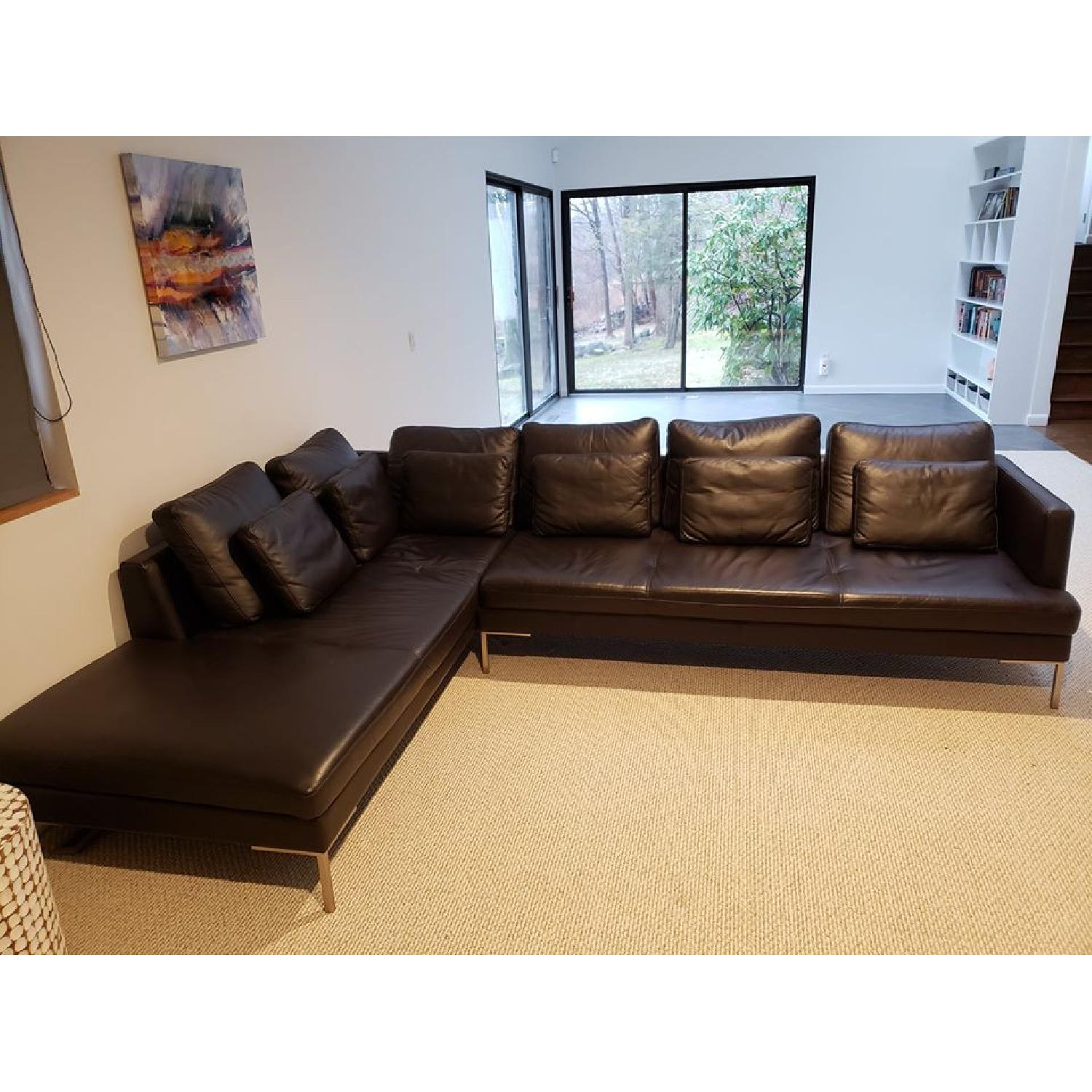 BoConcept Leather Sectional Couch - image-1