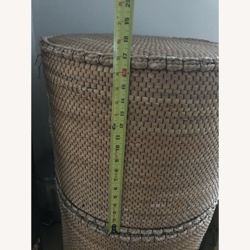 Used Crate & Barrel Wicker Ottoman for sale on AptDeco