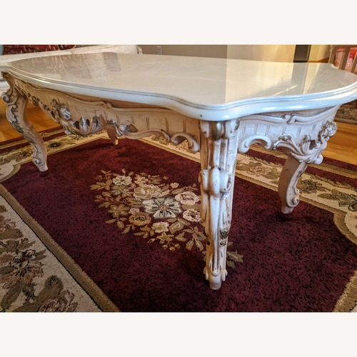 Used Vintage Cultured Marble Coffee Table for sale on AptDeco