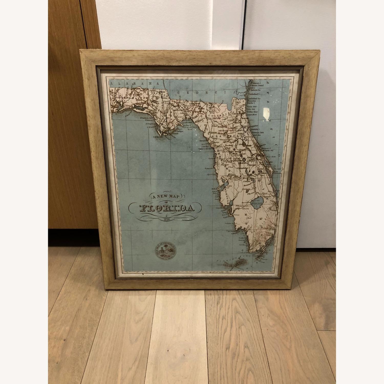 One Kings Lane Vintage Framed Map of Florida - image-2