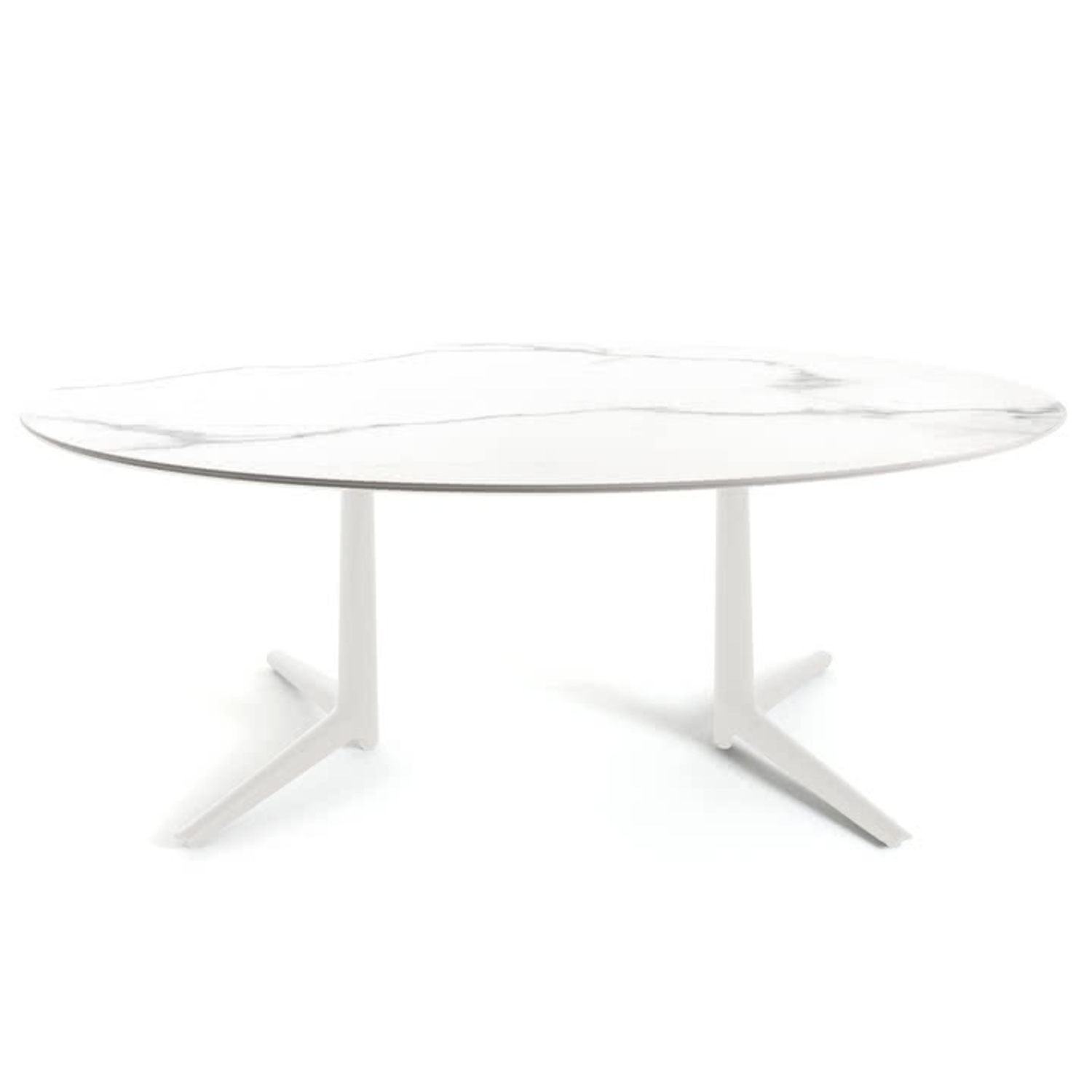 Kartell Oval Carrara Marble Dining Table - image-0