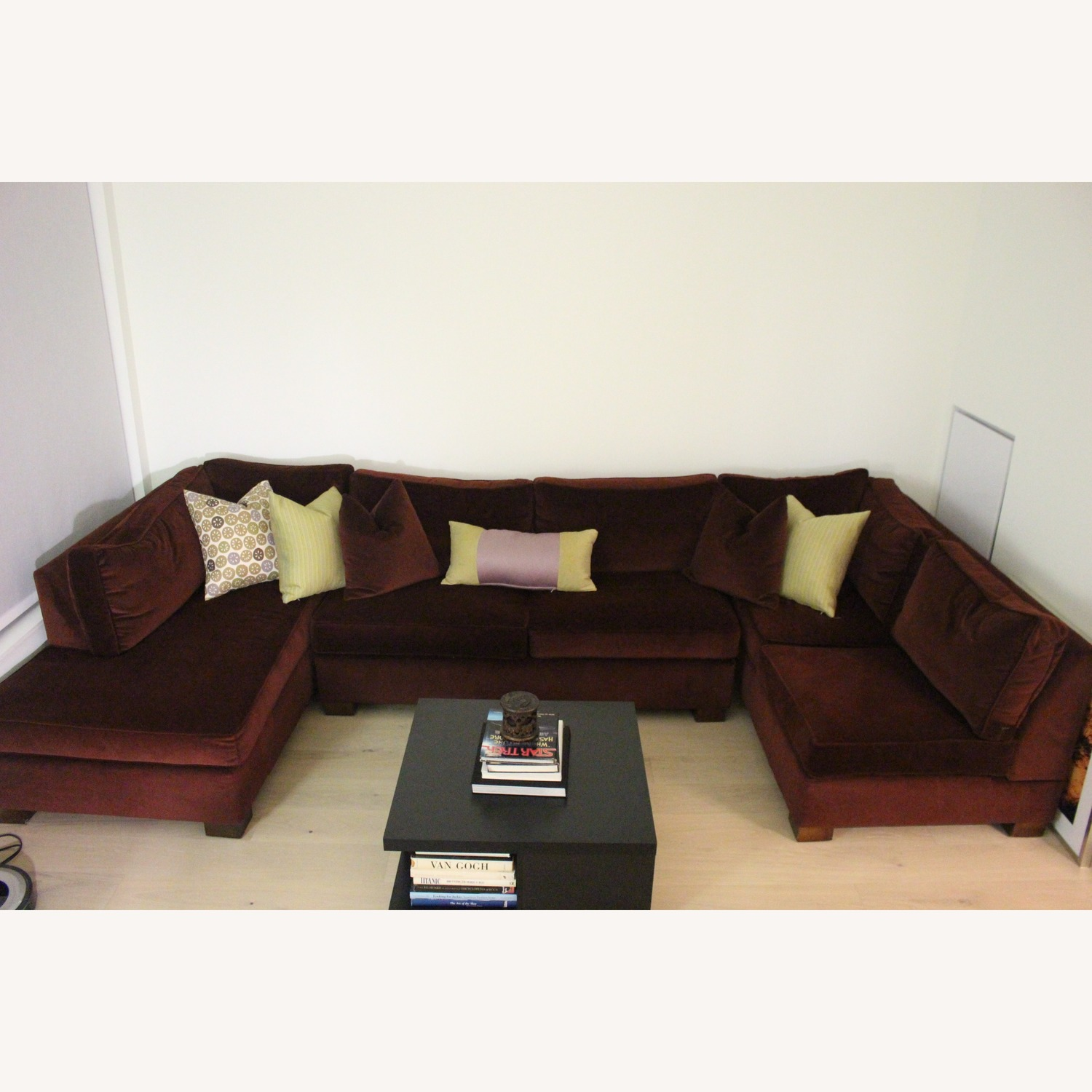 Custom Red 3-Piece Sectional Sofa - image-1
