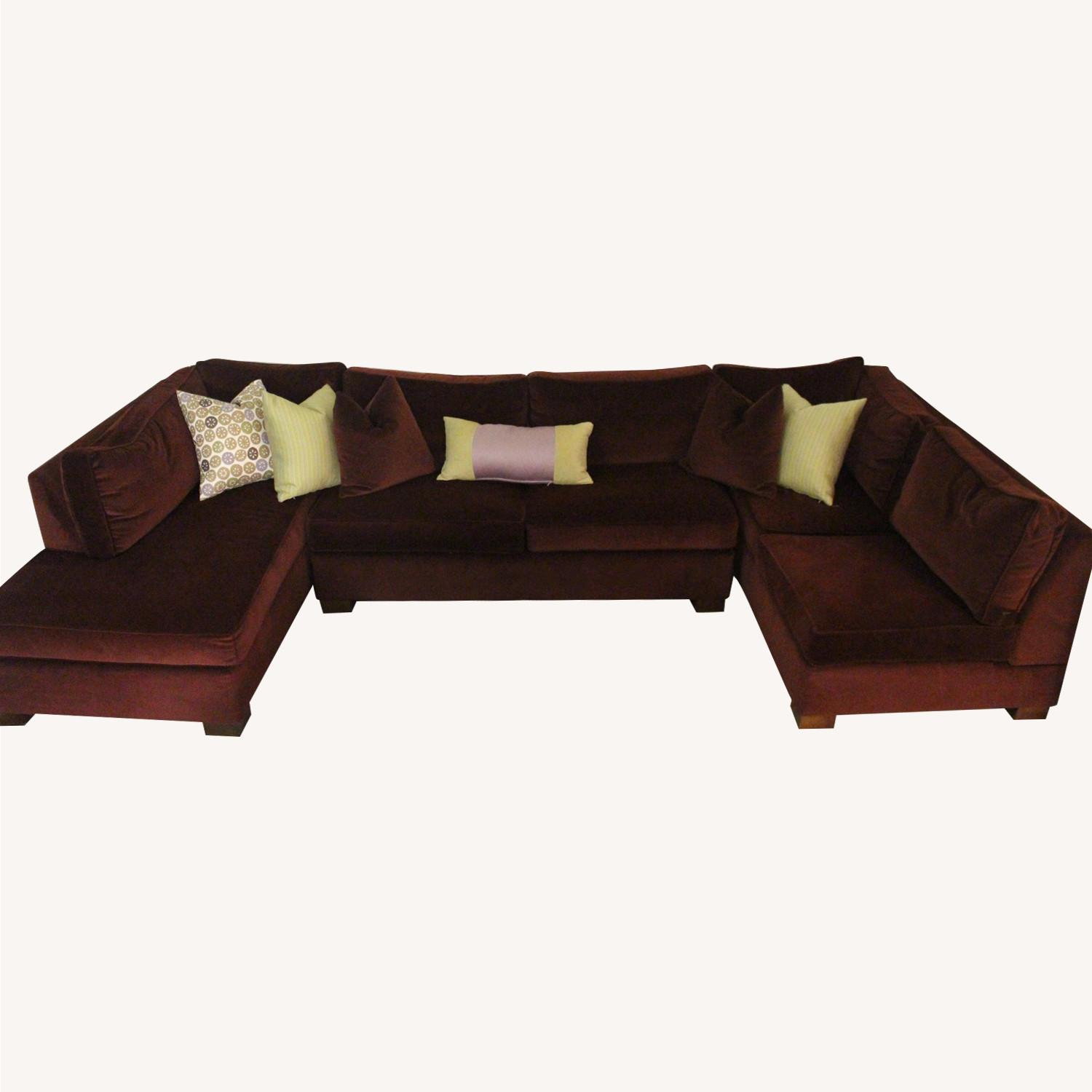 Custom Red 3-Piece Sectional Sofa - image-0
