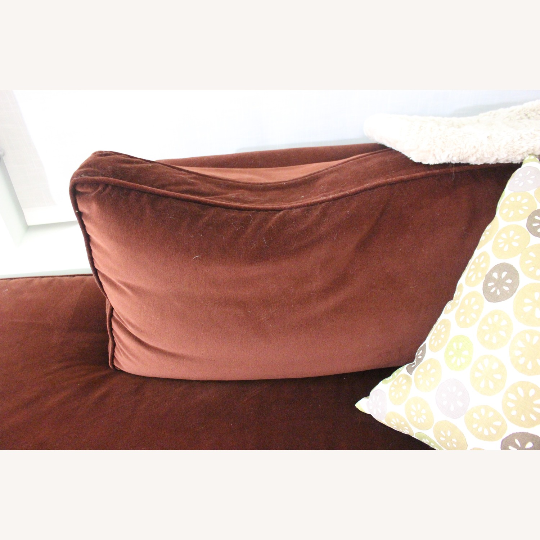 Custom Red 3-Piece Sectional Sofa