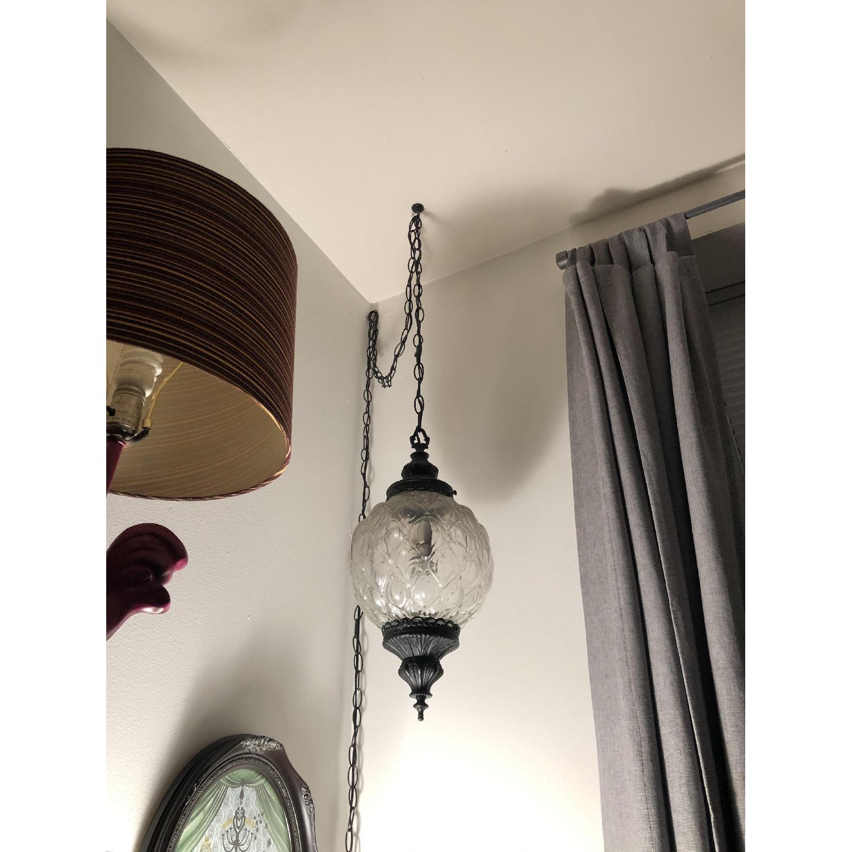 Vintage Mid Century Hollywood Regency Hanging Swag Light - image-2