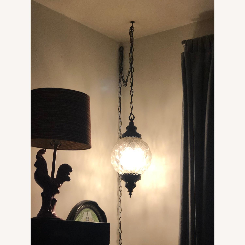 Vintage Mid Century Hollywood Regency Hanging Swag Light - image-3