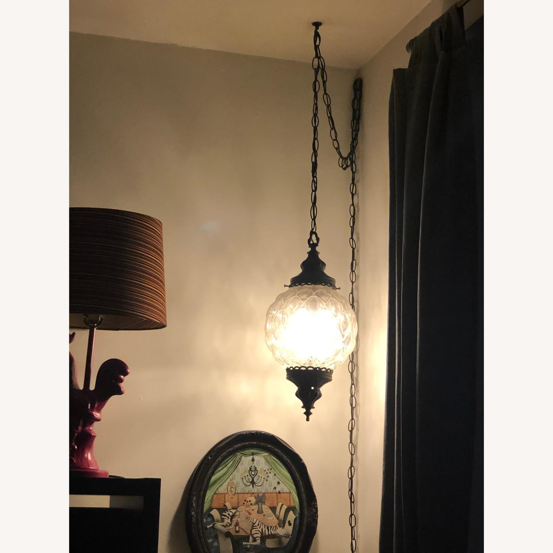 Vintage Mid Century Hollywood Regency Hanging Swag Light - image-5