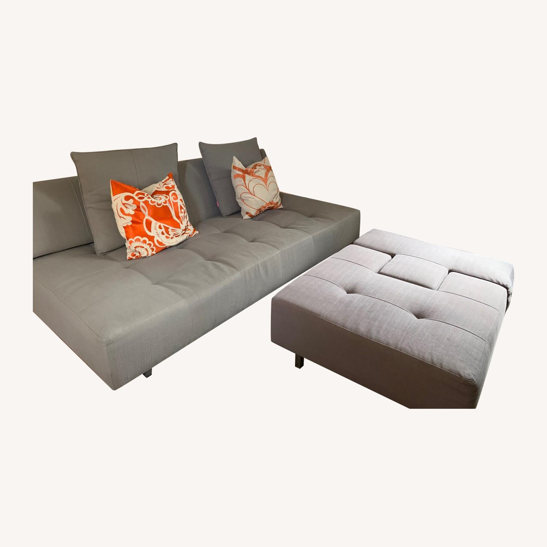 ABC Carpet & Home Convertible Sofa & Ottoman - image-0