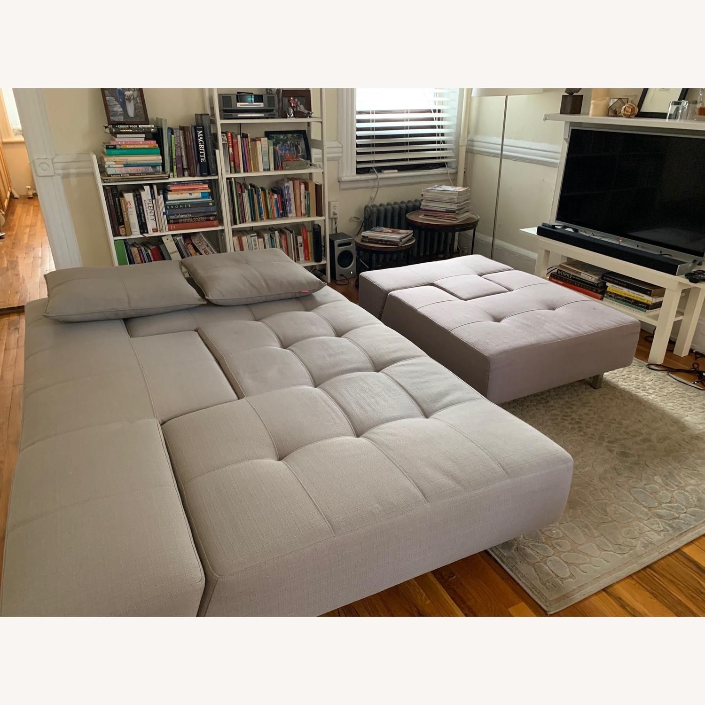 ABC Carpet & Home Convertible Sofa & Ottoman - image-3