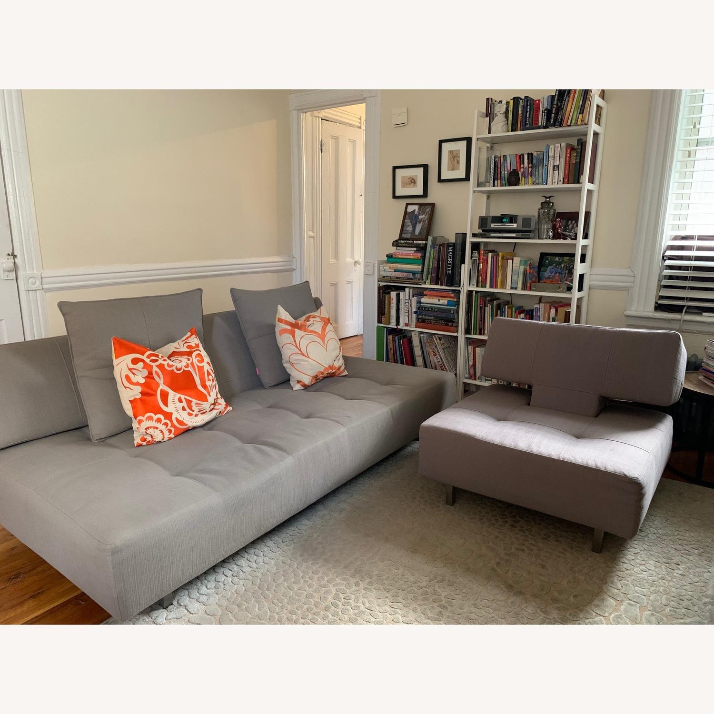 ABC Carpet & Home Convertible Sofa & Ottoman - image-1