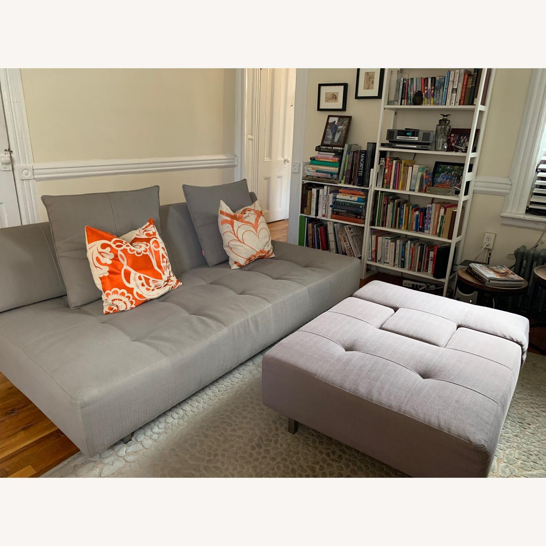 ABC Carpet & Home Convertible Sofa & Ottoman - image-2