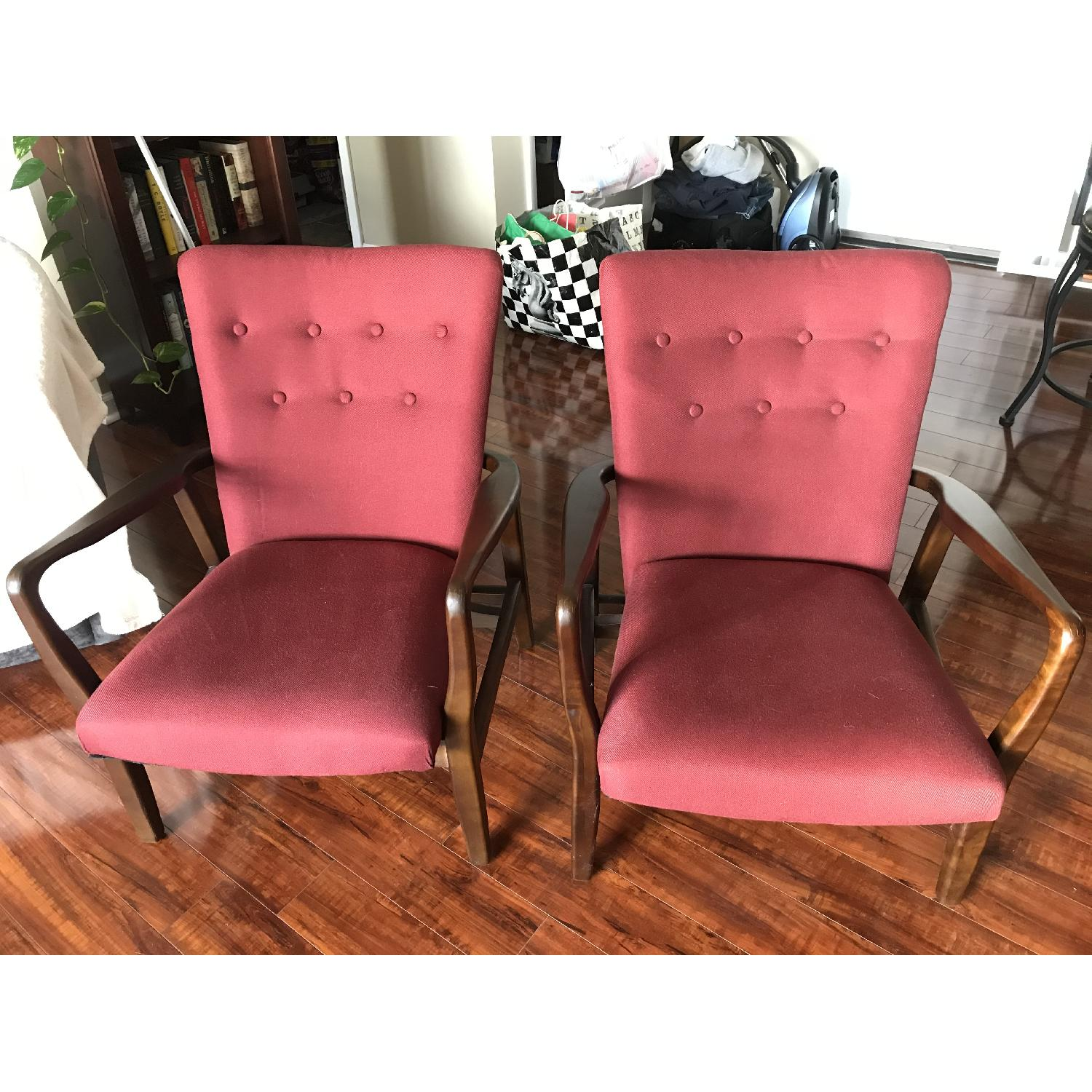 Burgundy Accent Chairs - image-4