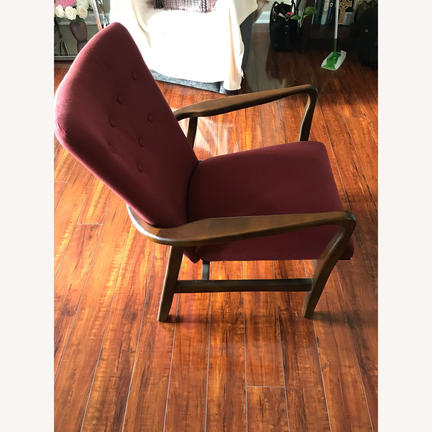 Burgundy Accent Chairs - image-3