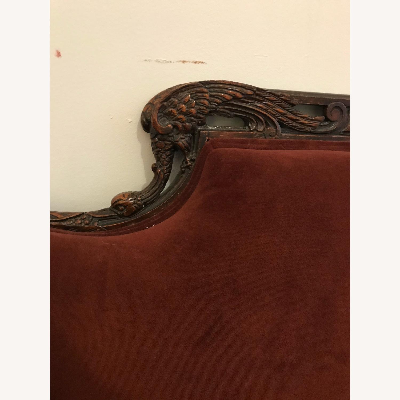 Vintage Burgundy Velvet Sofa