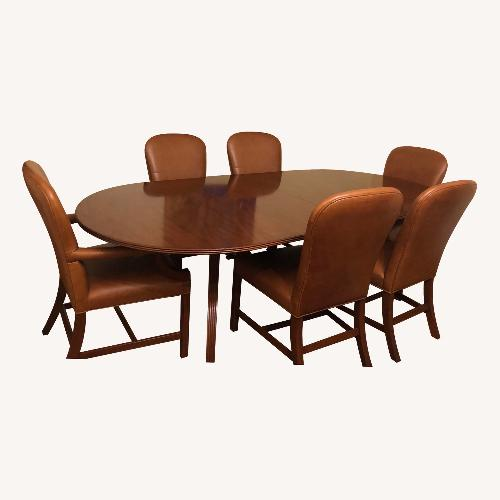 Used Ralph Lauren solid wood dining set for sale on AptDeco