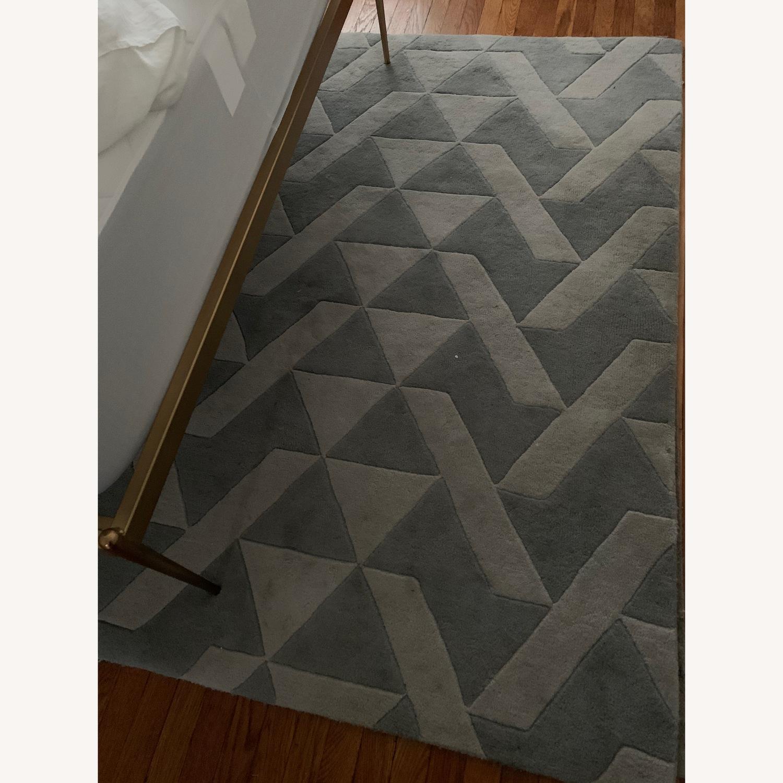 Mercury Row Grey Tufted Wool Rug - image-2