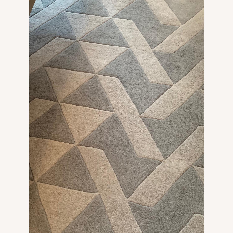 Mercury Row Grey Tufted Wool Rug - image-3