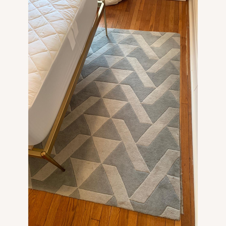Mercury Row Grey Tufted Wool Rug - image-1
